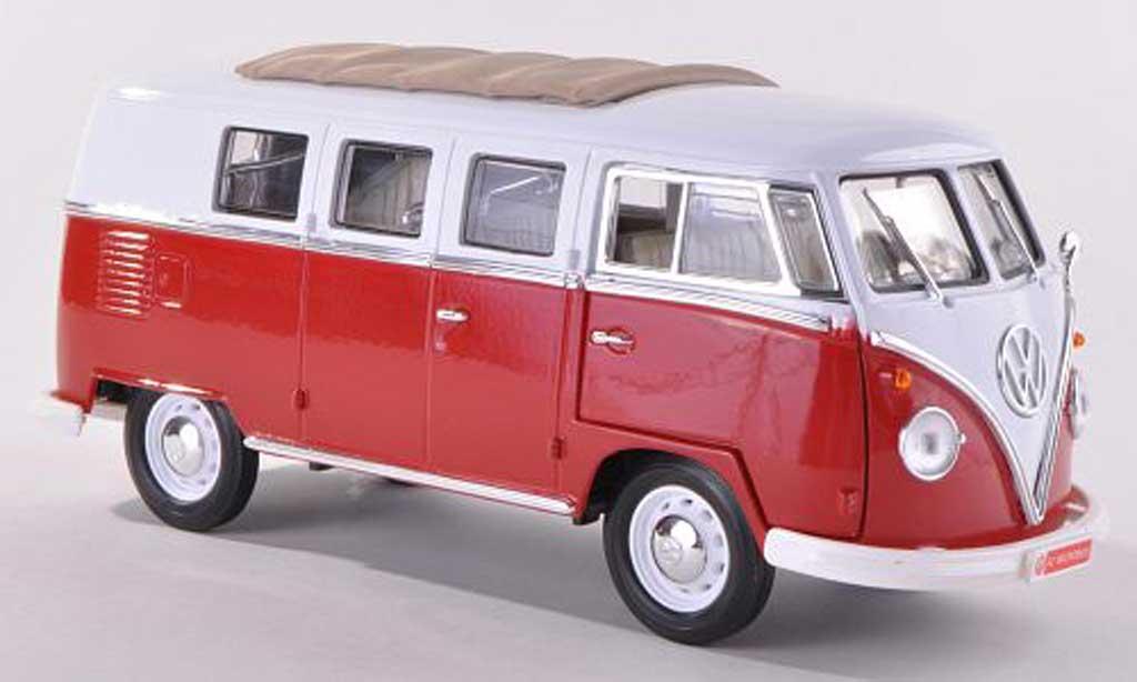 Volkswagen T1 1/43 Motor City Classics Samba Coca-Cola rot/weiss 1962 modellautos