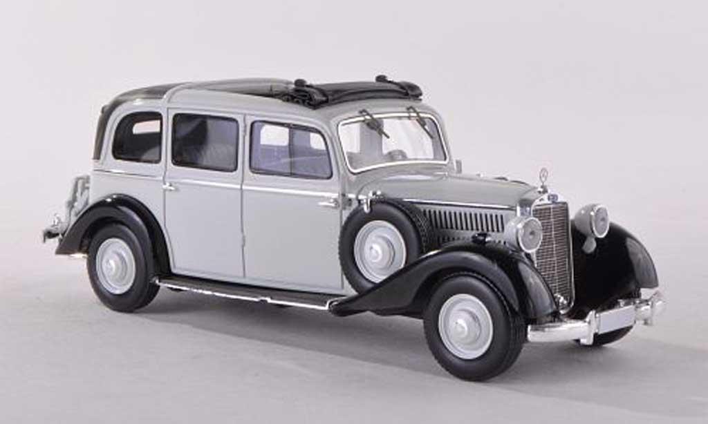 Mercedes 260 D 1/43 Esval Models Pullmann Landaulet clair-gris/noire ouvert  1936 miniature