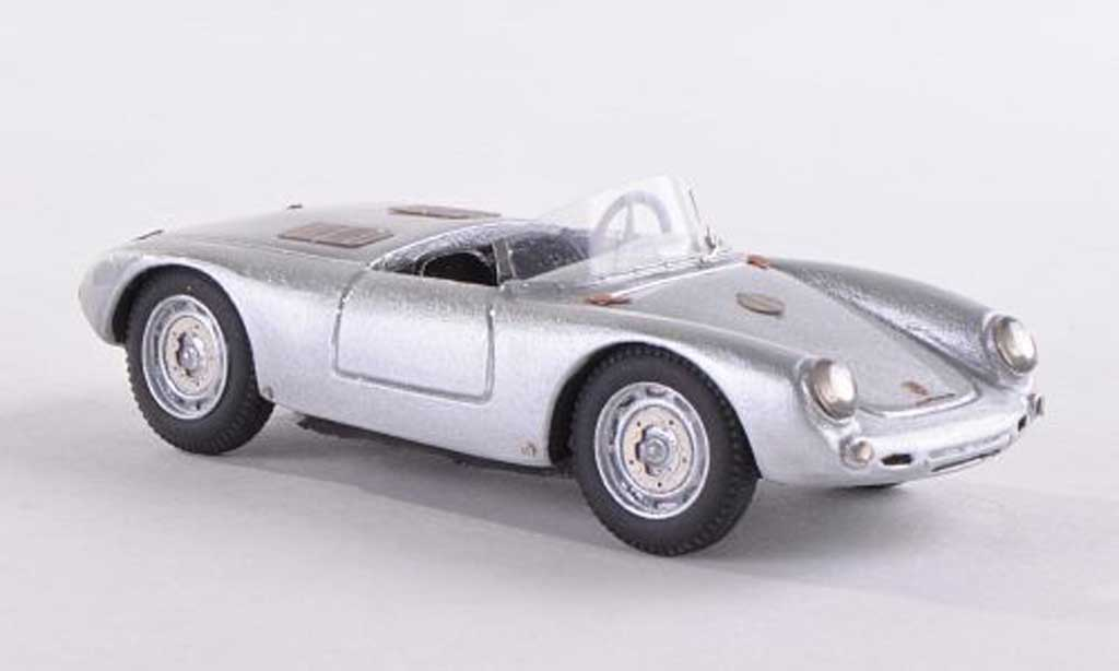 Porsche 550 1952 1/43 Jolly Model Glockner Spyder grise miniature
