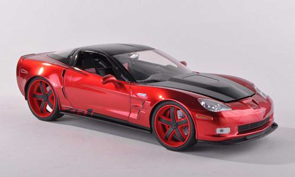 Chevrolet Corvette C6 1/18 Jada Toys Toys red/carbon 2009 diecast model cars