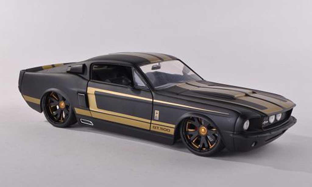 Shelby GT 500 1/18 Jada Toys noire dore 1967 miniature