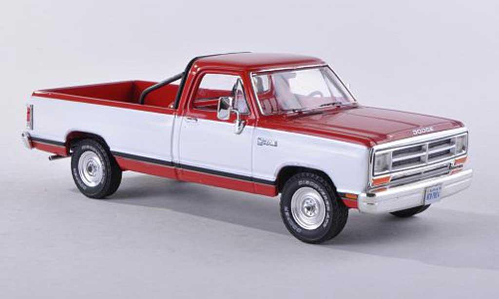 Dodge RAM 1/43 Premium X Pick Up rouge/blanche modele special limitee edition 500 piece 1987 miniature