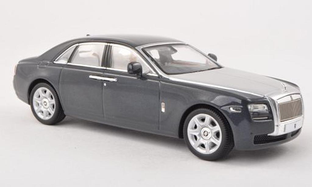 Rolls Royce Ghost 1/43 IXO noire-gris/grise RHD 2009 miniature