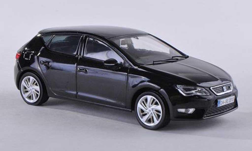 seat leon schwarz 2012 seat modellauto 1 43 kaufen verkauf modellauto online. Black Bedroom Furniture Sets. Home Design Ideas