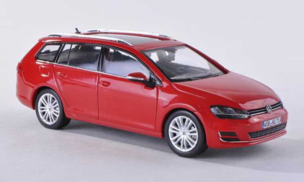 volkswagen golf vii miniature variant rouge 2013 herpa 1 43 voiture. Black Bedroom Furniture Sets. Home Design Ideas
