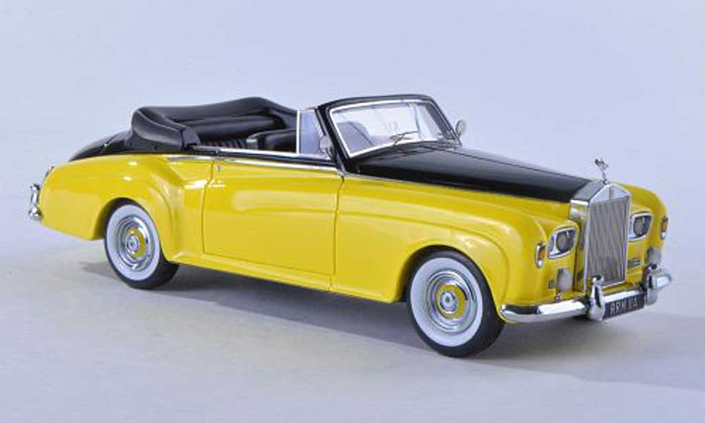 Rolls Royce Silver Cloud 1/43 Matrix III DHC Mulliner jaune/noire RHD miniature
