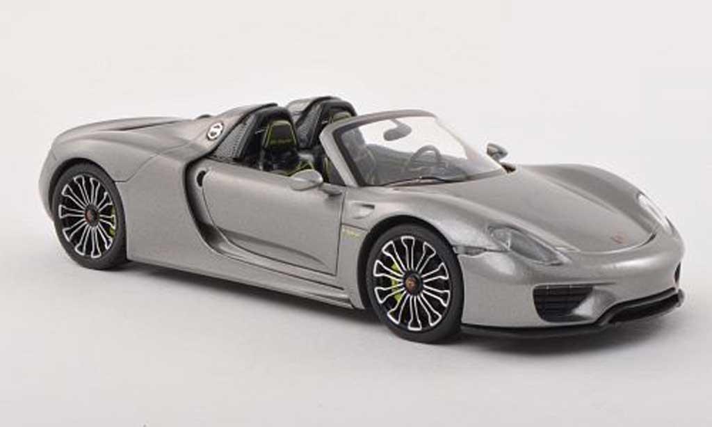 Porsche 918 2013 1/43 Minichamps Spyder gris exposition internationale d' automobile miniature