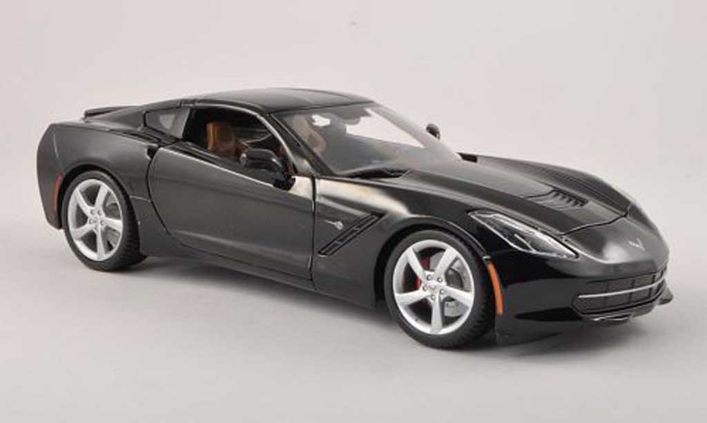 Chevrolet Corvette C7 1/18 Maisto Stingray (C7) noire miniature