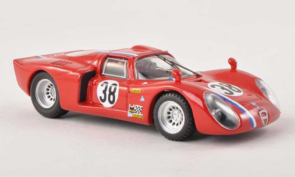Alfa Romeo 33.2 1968 1/43 Best C No.38 vehicule de test 24h Le Mans Gosselin/Trosch miniature