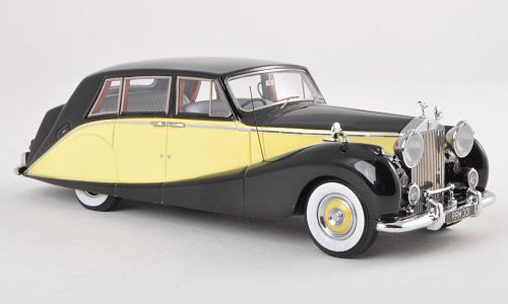Rolls Royce Silver Wraith 1/43 Matrix Empress Limousine by Hooper noire/jaune 1956 miniature
