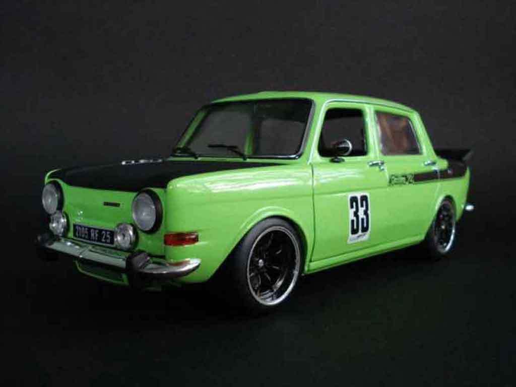 Simca 1000 1/18 Norev rallye 2 green tuning diecast