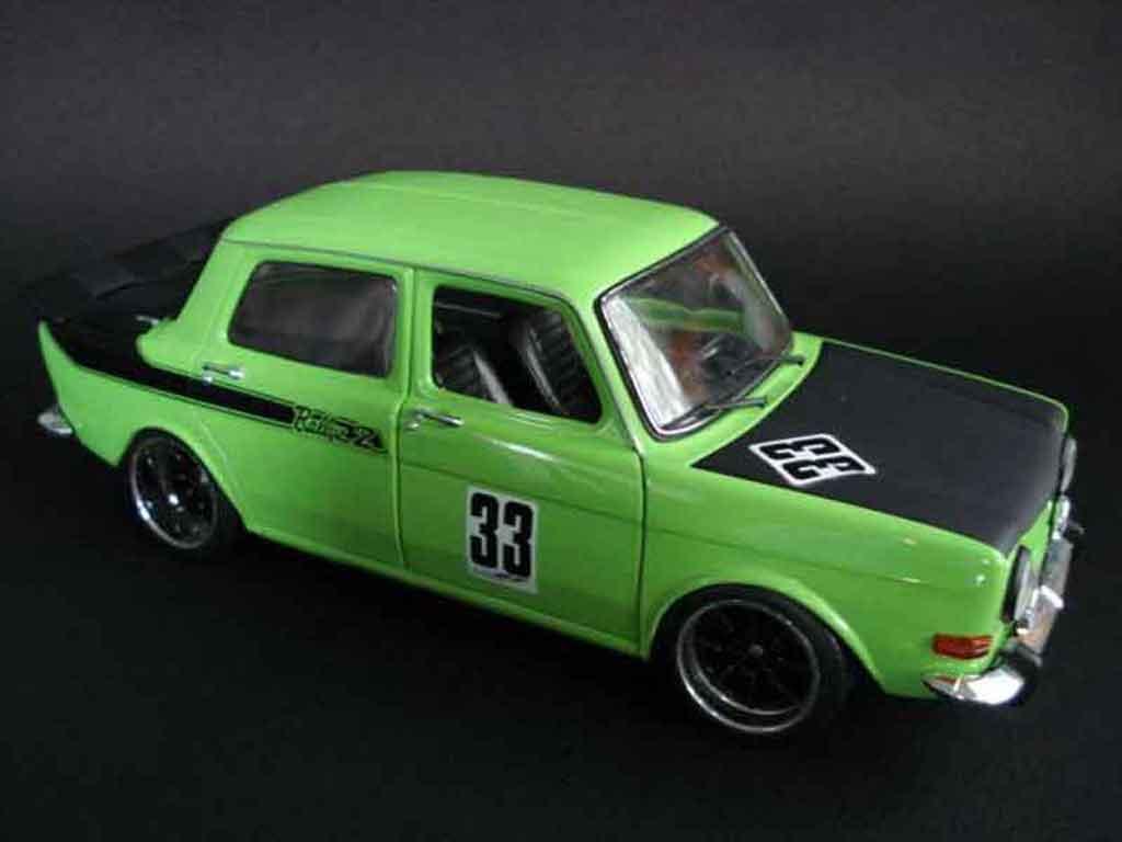 simca 1000 miniature rallye 2 verte norev 1 18 voiture. Black Bedroom Furniture Sets. Home Design Ideas