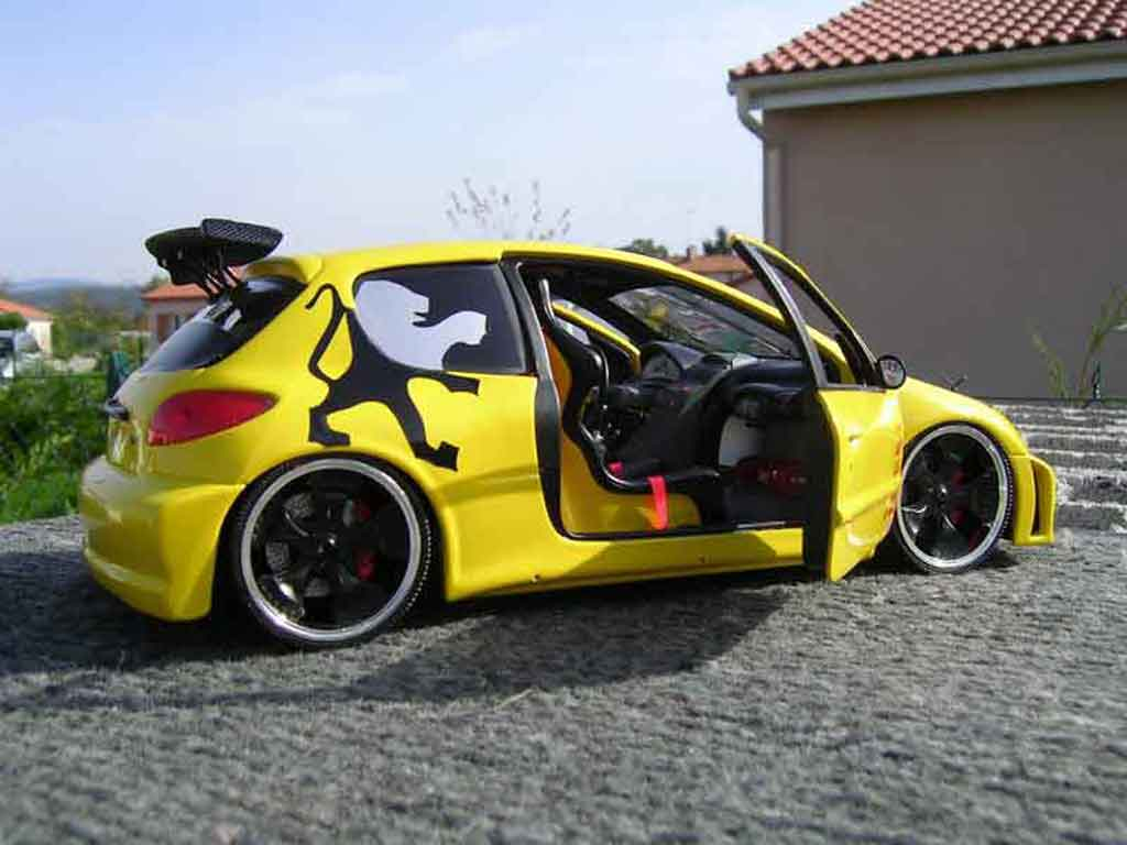 peugeot 206 wrc tuning yellow solido diecast model car 1 18 buy sell diecast car on. Black Bedroom Furniture Sets. Home Design Ideas