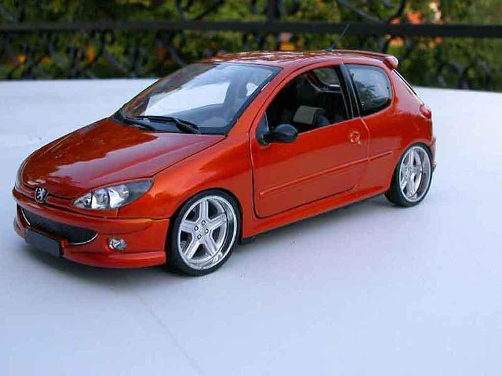 peugeot 206 rc miniature orange tuning norev 1 18 voiture. Black Bedroom Furniture Sets. Home Design Ideas
