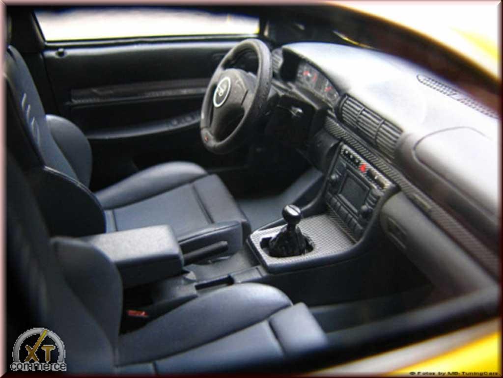 Audi RS4 1/18 Ottomobile B5 giallo jantes audi 19 pouces