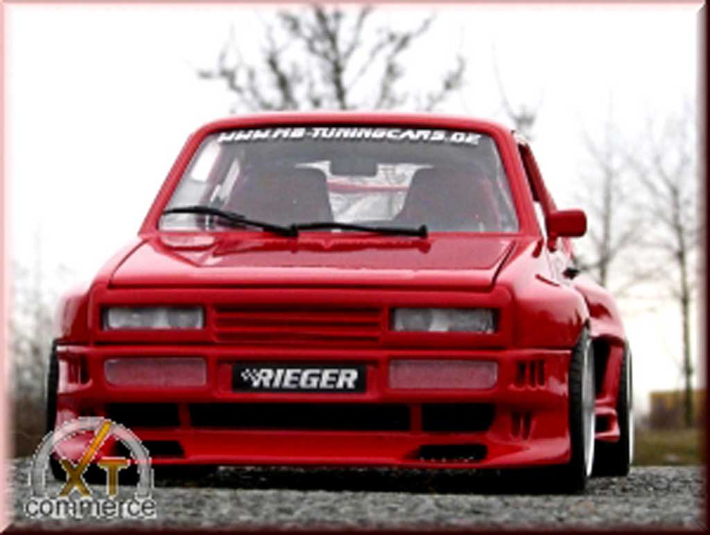 Volkswagen Golf 1 GTI 1/18 Solido red kit rieger extra large et jantes bord larges 16 pouces tuning diecast model cars
