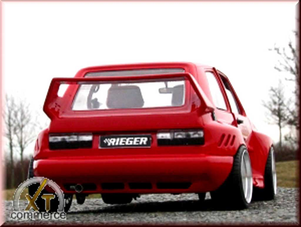 Volkswagen Golf 1 GTI 1/18 Solido rot kit rieger extra large et jantes bord larges 16 pouces