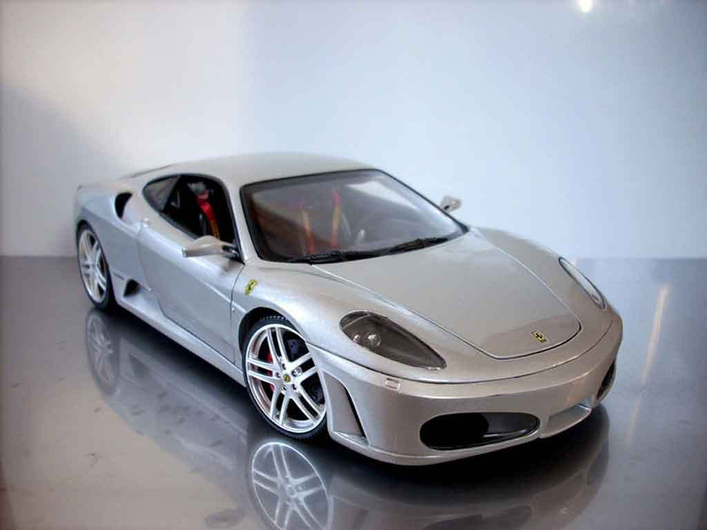 Ferrari F430 1/18 Hot Wheels grey tuning diecast model cars