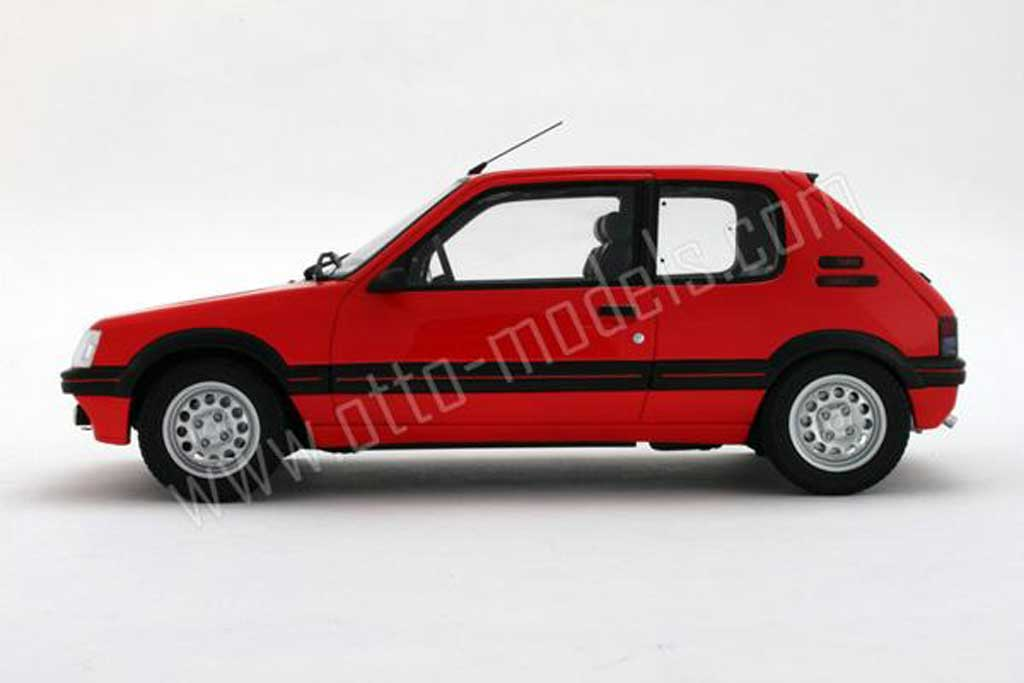 peugeot 205 gti miniature 1 6 rouge vallelunga 1991 phase 2 ottomobile 1 18 voiture. Black Bedroom Furniture Sets. Home Design Ideas