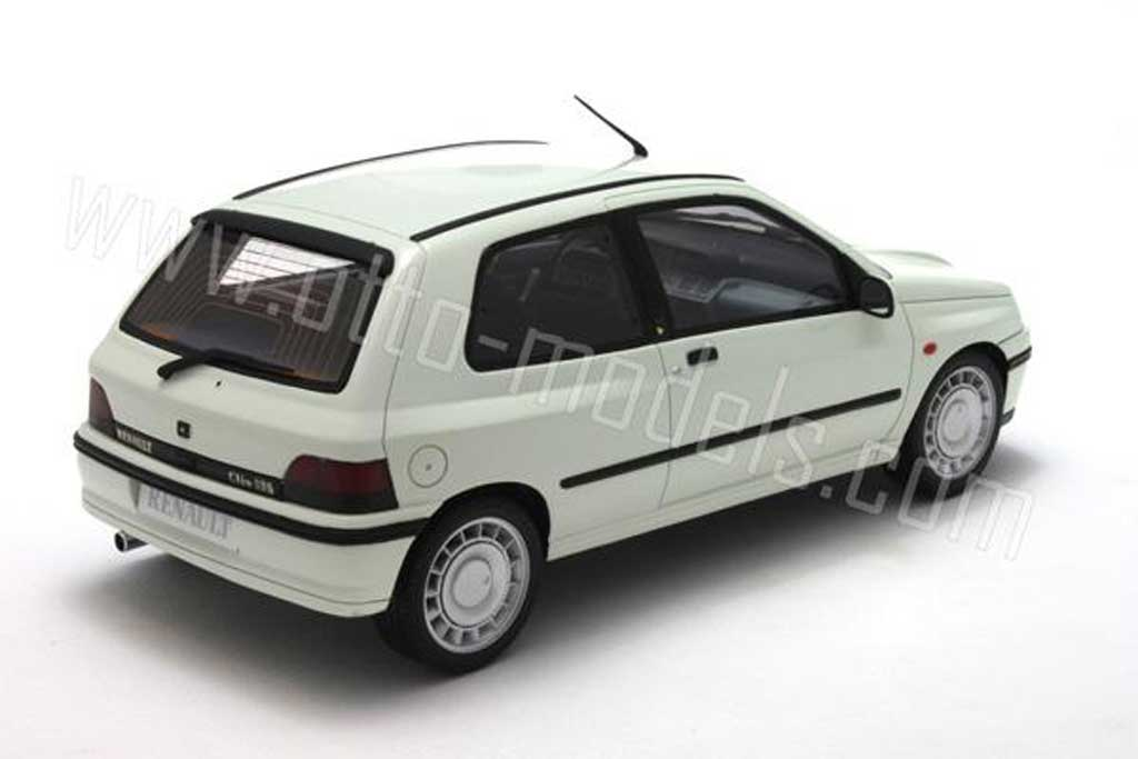 renault clio 16s miniature blanche 1991 ottomobile 1 18 voiture. Black Bedroom Furniture Sets. Home Design Ideas