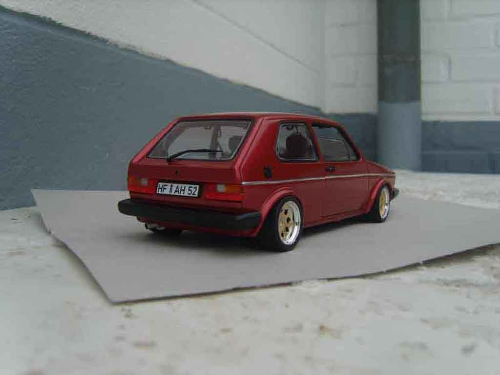 Volkswagen Golf 1 GTI rouge mk1 1982 grands feux tuning Solido. Volkswagen Golf 1 GTI rouge mk1 1982 grands feux miniature miniature 1/18