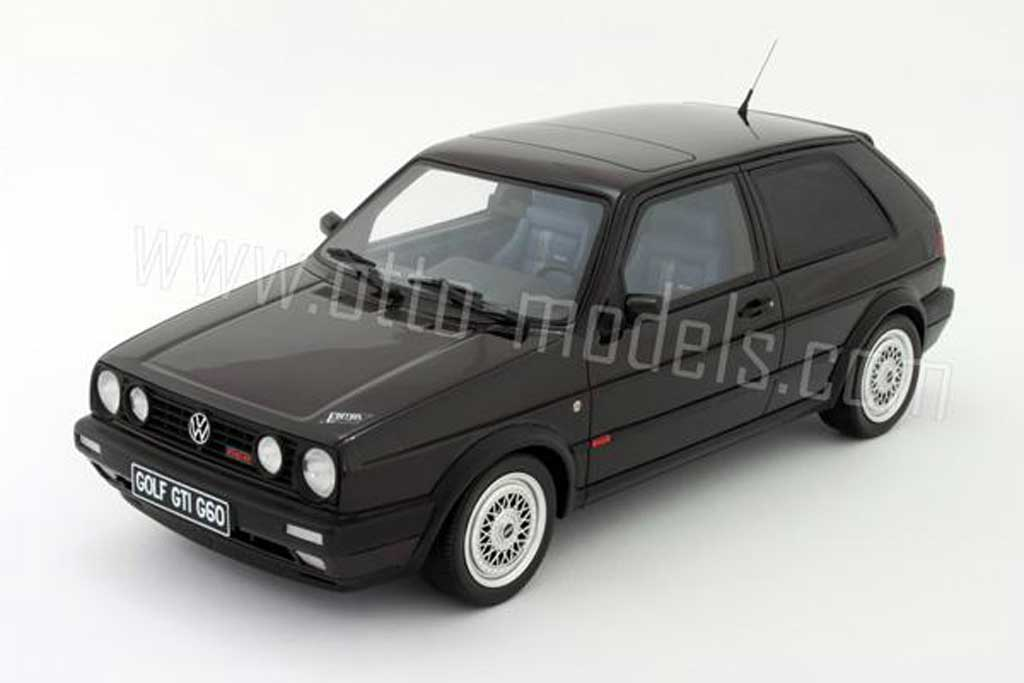 Volkswagen Golf 2 G60 1/18 Ottomobile edition one noire 1991 miniature