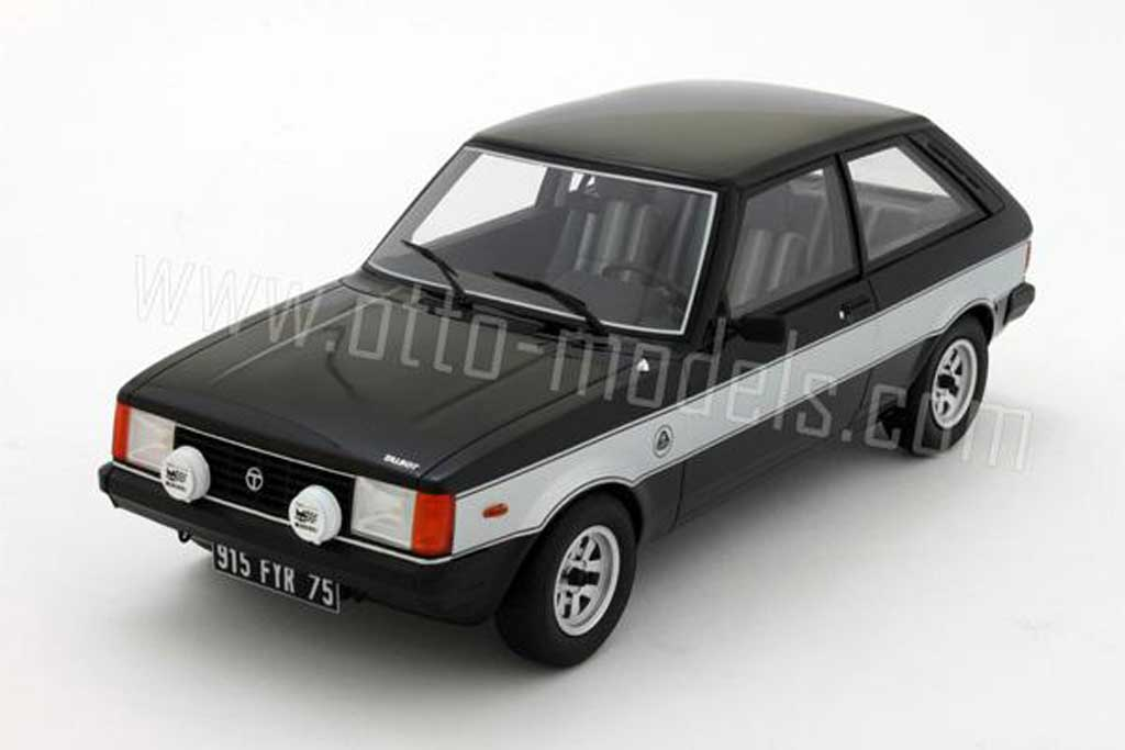 Talbot Sunbeam 1/18 Ottomobile lotus 1981 noire bandes grises miniature