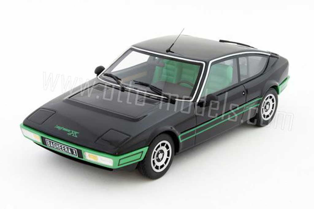 Simca Bagheera 1/18 Ottomobile x 1978 black bandes greens diecast