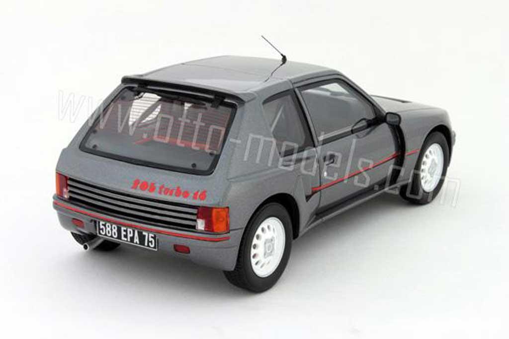 Peugeot 205 Turbo 16 1/18 Ottomobile t16 serie 200 grau 1984
