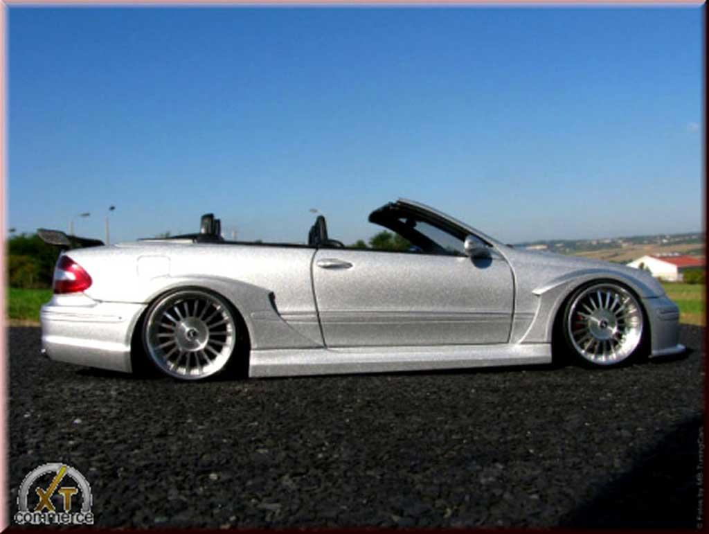 Mercedes Classe CL AMG DTM cabriolet 1/18 Kyosho K AMG DTM cabriolet grey jantes alu alpina 20 pouces