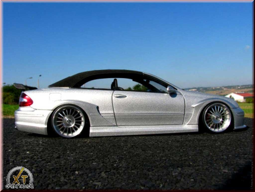 Mercedes Classe CLK AMG DTM cabriolet 1/18 Kyosho grise jantes alu alpina 20 pouces
