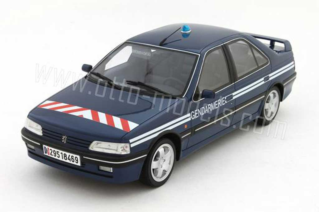 Peugeot 405 Turbo 16 1/18 Ottomobile b.r.i (brigade intervention rapide) 1995 diecast