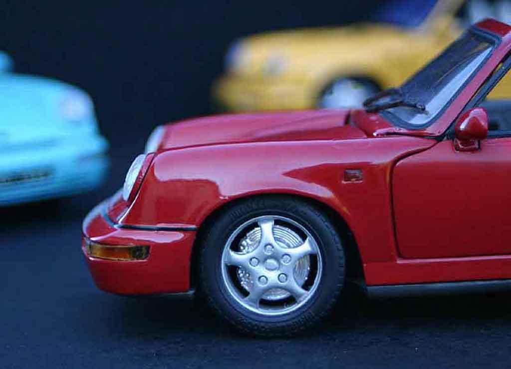Porsche 964 cabriolet carrera 4 Anson. Porsche 964 cabriolet carrera 4 miniature miniature 1/18