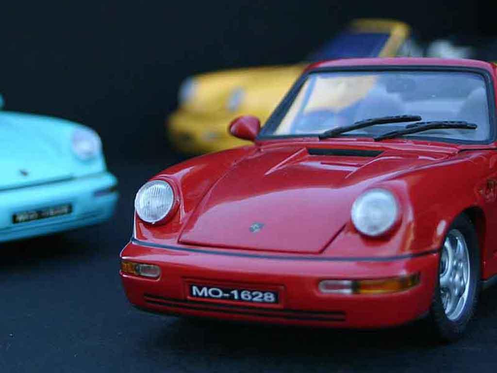 Modèle réduit Porsche 964 cabriolet carrera 4 Anson. Porsche 964 cabriolet carrera 4 miniature 1/18