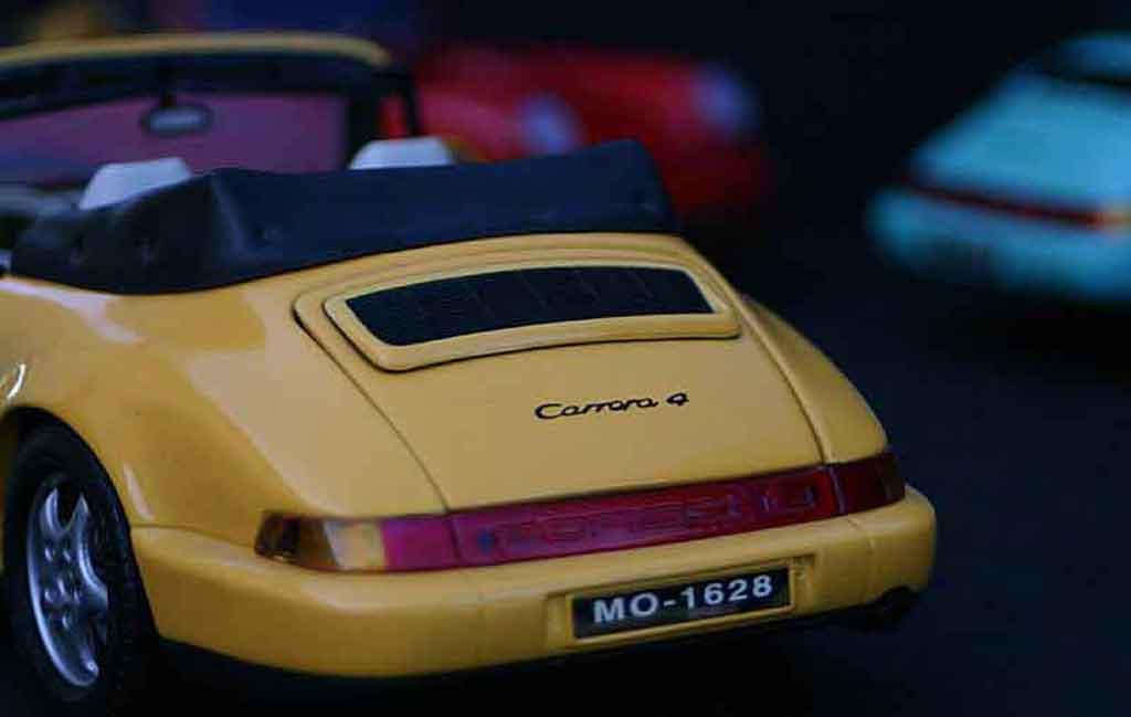 Auto miniature Porsche 964 cabriolet carrera 4 Anson. Porsche 964 cabriolet carrera 4 miniature 1/18