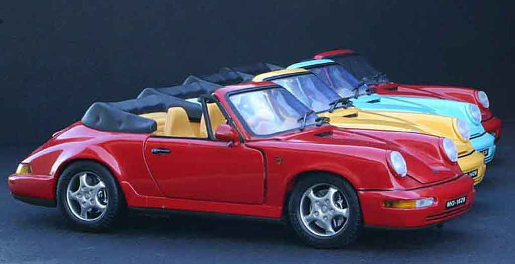 Voiture de collection Porsche 964 carrera 4 cabriolet Anson. Porsche 964 carrera 4 cabriolet miniature 1/18
