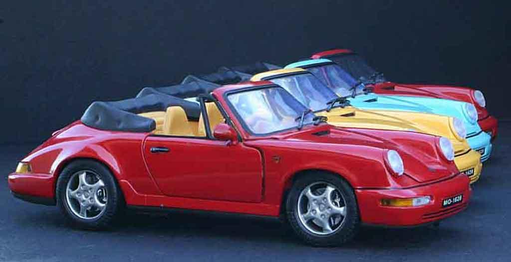 Voiture de collection Porsche 964 cabriolet carrera 4 Anson. Porsche 964 cabriolet carrera 4 miniature 1/18