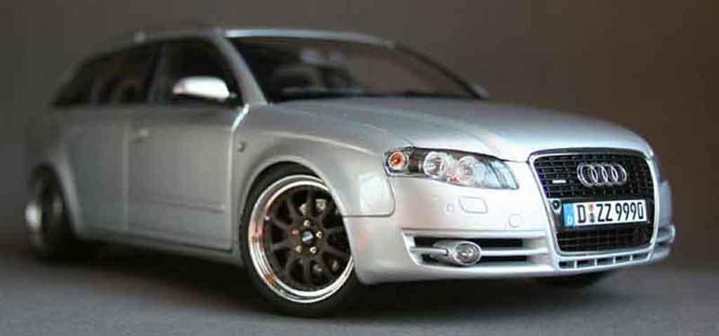 Audi A4 Avant 1/18 Minichamps grise jantes 18 pouces gmp kinesis tuning miniature