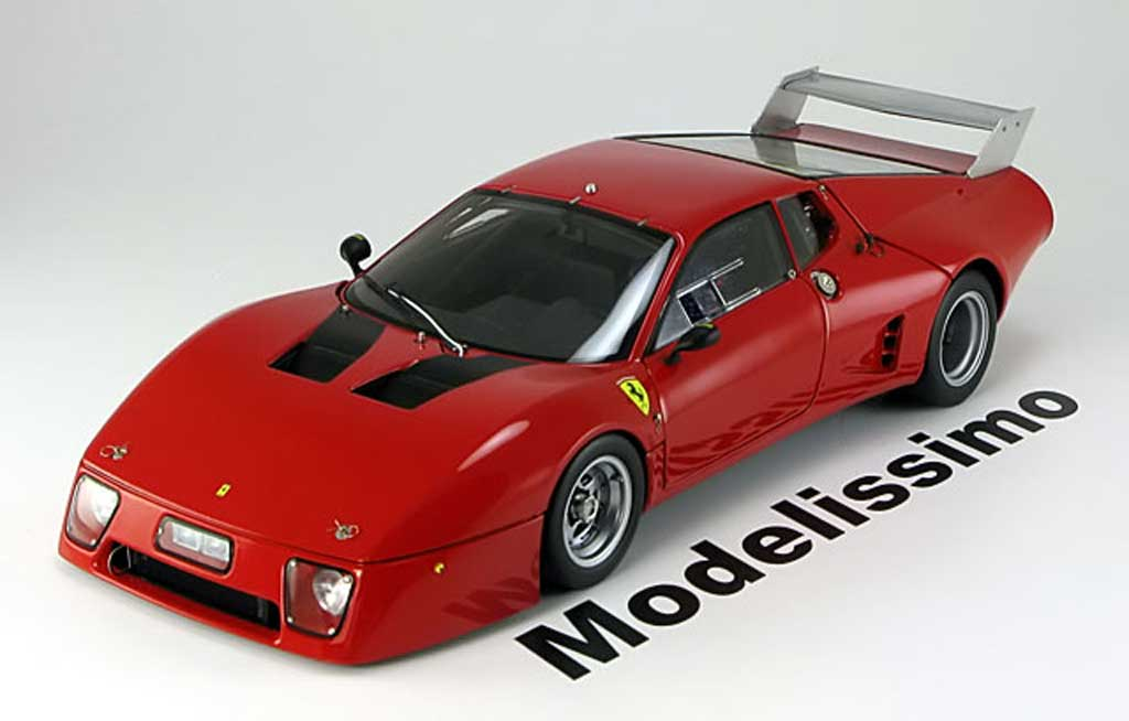 Ferrari 512 BB 1/18 BBR Models le mans presentation 1979 rouge miniature