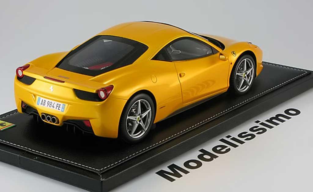 Ferrari 458 Italia 1/18 BBR Models 2009 jaune metallis