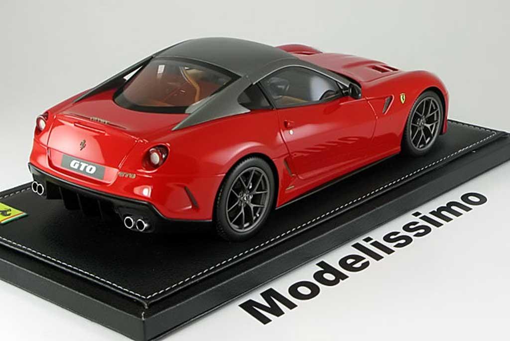 Ferrari 599 GTO 1/18 BBR Models 2008 rouge anthracite