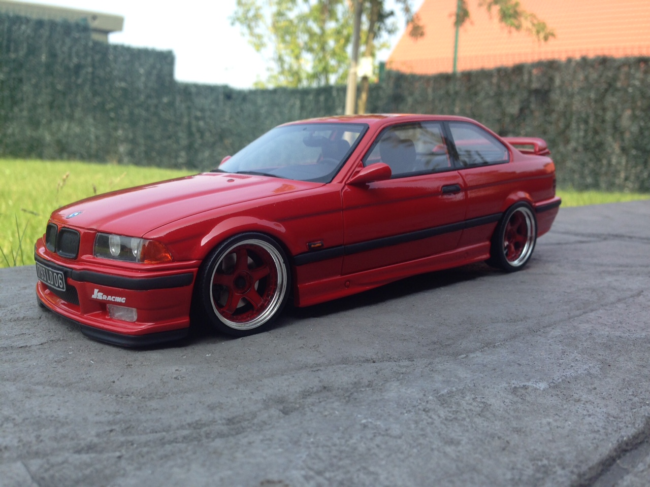 Bmw M3 E36 1/18 Ottomobile Light Weight red