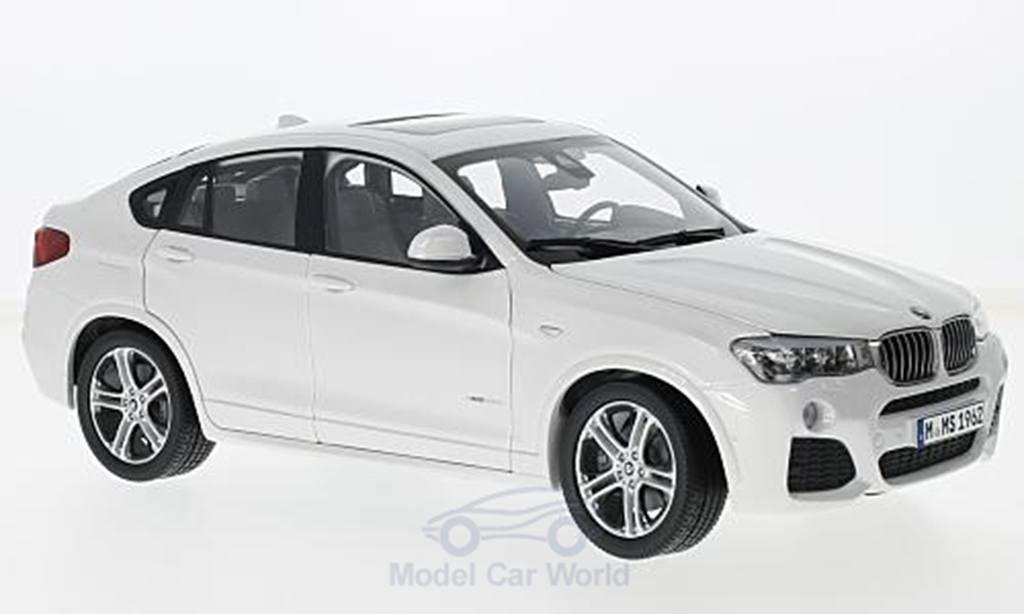 Bmw X4 F26 1/18 Paragon white diecast model cars