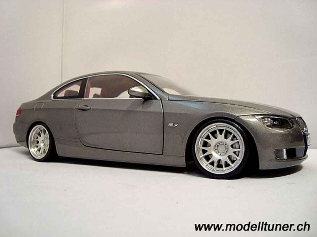 bmw 330 e92 miniature coupe grise kyosho 1 18 voiture. Black Bedroom Furniture Sets. Home Design Ideas