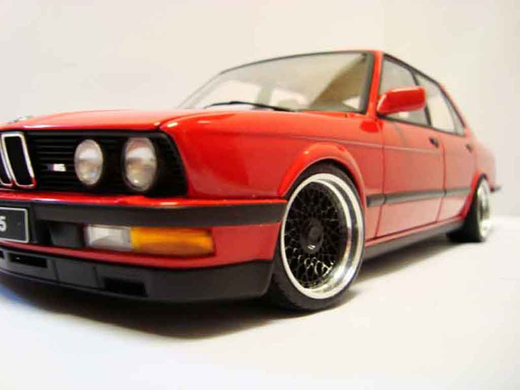 Bmw M5 E28 1/18 Autoart red jantes bbs 17 pouces tuning diecast model cars