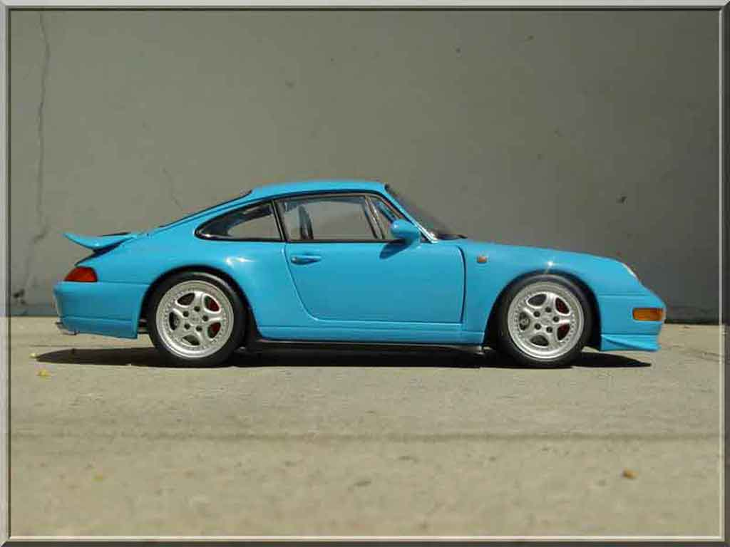 porsche 993 carrera rs blau ut models modellauto 1 18. Black Bedroom Furniture Sets. Home Design Ideas