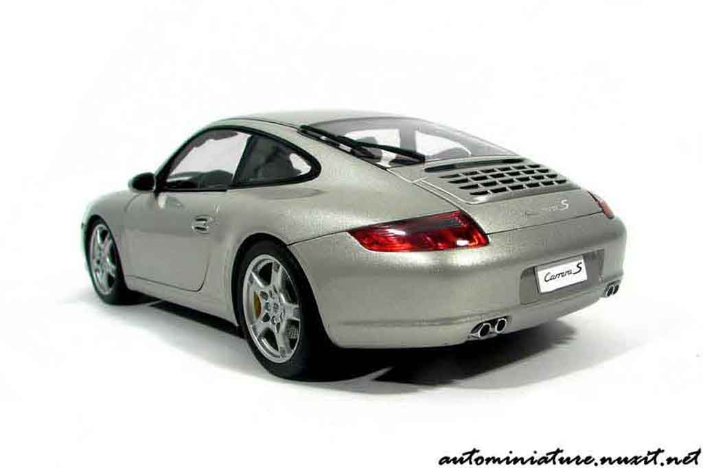 Porsche 997 S 1/18 Autoart Carrera grey polaire diecast model cars