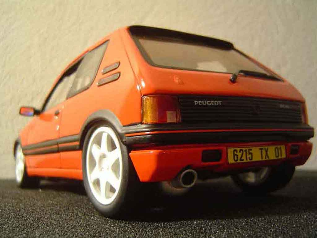 peugeot 205 gti miniature tuning solido 1 18 voiture. Black Bedroom Furniture Sets. Home Design Ideas