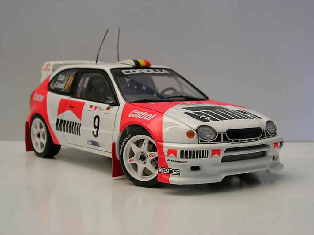toyota corolla wrc miniature rallye portugal autoart 1 18 voiture. Black Bedroom Furniture Sets. Home Design Ideas