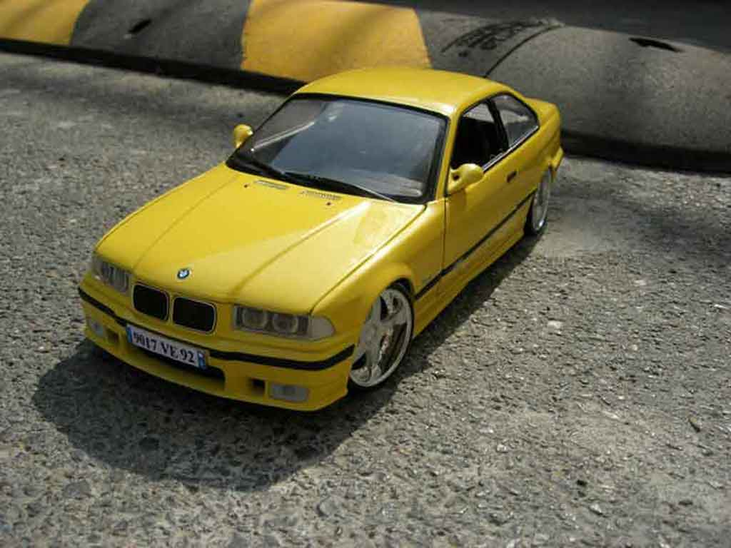 Bmw M3 E36 jaune wheels racing hart tuning Ut Models. Bmw M3 E36 jaune wheels racing hart miniature 1/18